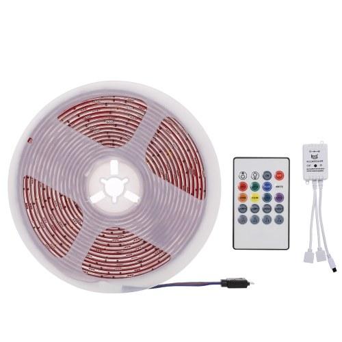Tira de luces LED, tira de luz LED RGB de 5 m Luces de cinta LED a prueba de agua 5050 (enchufe AU)