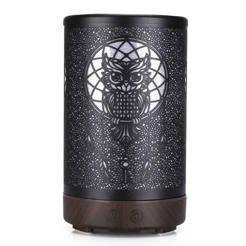 New Style Flathead Owl Iron Aromatherapy Machine Household Hardware 100ML Desktop Aromatherapy Diffuser Hollow Out Humidifier