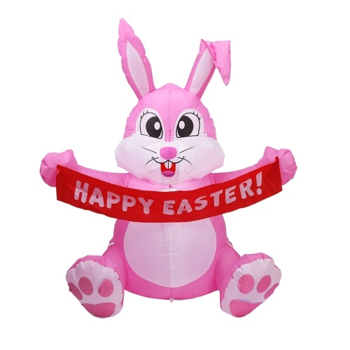 4.92FT LED Easter Waving Rabbit Inflatable Lighted Easter Inflatable