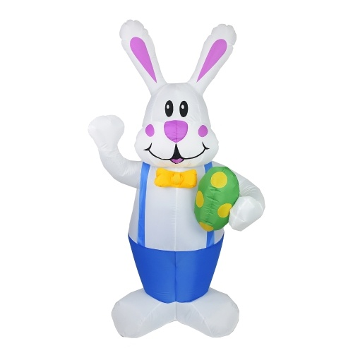 6.23FT LED Easter Waving Rabbit Inflatable Beleuchtetes Easter Inflatable