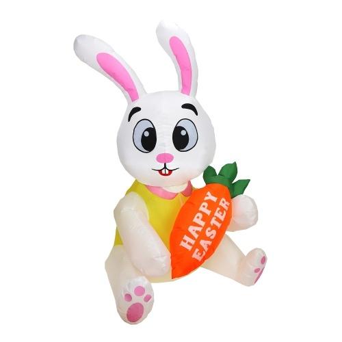 5.24FT LED Easter Waving Rabbit gonfiabile