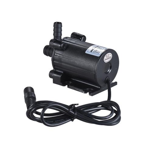 Pompe à eau submersible submersible à double sortie d'eau de taille compacte Ultra-silencieux Max. Ascenseur 5M 450L / H DC 12V pour Fish Tank Aquarium Fontaine Circulant