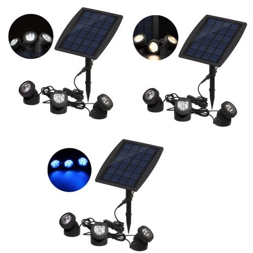 Супер яркий 3 погружной лампы 18 светодиодов проектор свет сад бассейн пруд дворе пейзаж подводный прожектор наружного освещения использование белый солнечный
