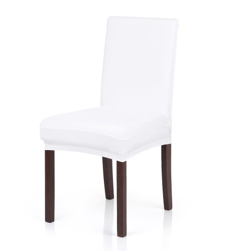 High Quality Stretch Removable Washable Short Dining Chair Cover Soft Milk Silk Spandex Chair Cover Slipcover for Wedding Party Hotel Dining Room Ceremony Chair Seat Covers