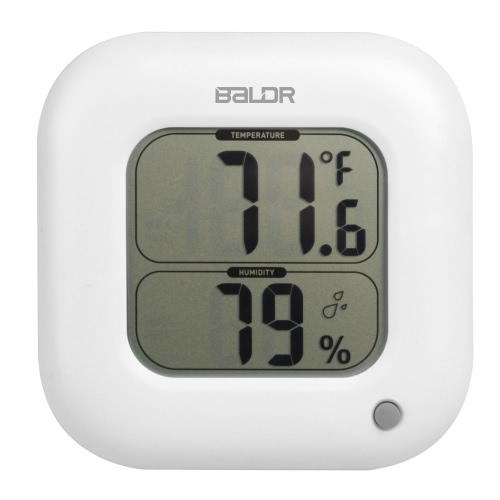 ° C / ° F закрытый квадрат цифровой термометр гигрометр температуры влажности измерения значение Min Max дисплей
