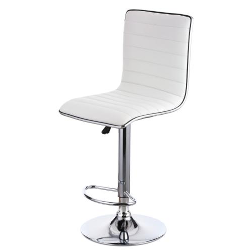 iKayaa 2PCS/Set of 2 PU Leather Pneumatic Swivel Bar Stools Chairs Height Adjustable Counter Pub Chair Barstools Heavy-duty