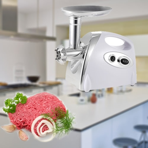 220-240V Brand New 300W Electric Meat Grinder Aluminium Alloy Household or Commercial Sausage Maker Meats Mincer Food Grinding Mincing Machine