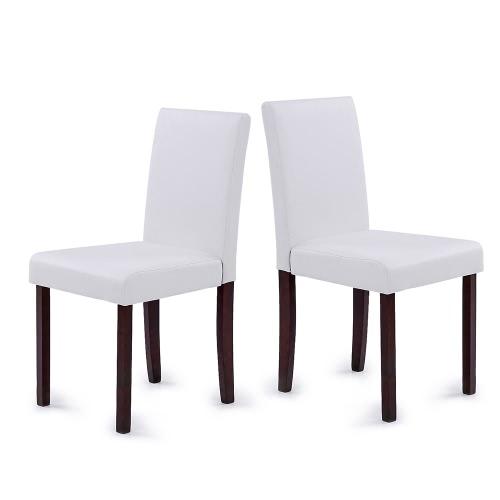 iKayaa Lot de 2 chaises modernes Cuir PU