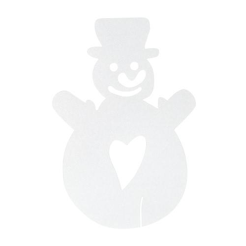 50pcs delicado tarjeta tallada del muñeco de nieve de cristal del vino tarjetas de mesa para la fiesta del día de Navidad decoración de la boda banquete