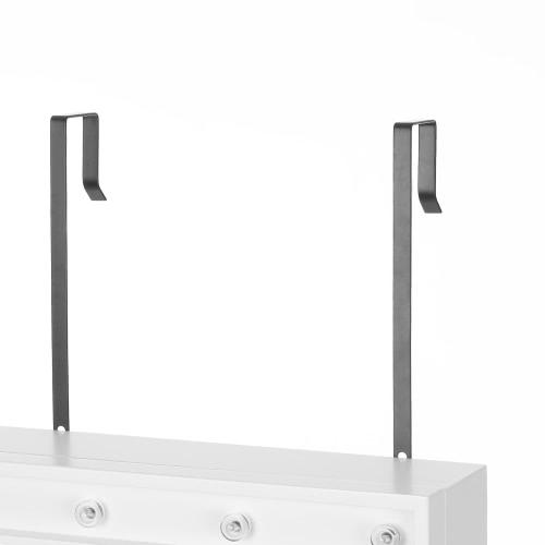 Image of IKayaa Mode LED Lichter hängende Schmuck Armoire Tür / Wandhalter Schmuck Schrank gespiegelt Schmuck Aufbewahrungsbox Organizer