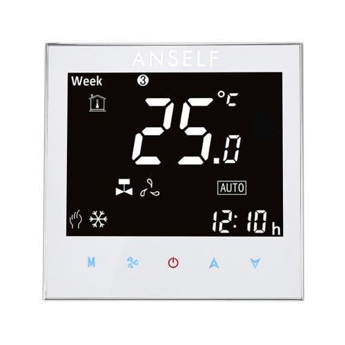 Anself 110 ~ 240V Кондиционер 2-трубная термостат с ЖК-дисплеем Хорошее качество Сенсорный экран Программируемый контроллер комнатной температуре Home Improvement продукта