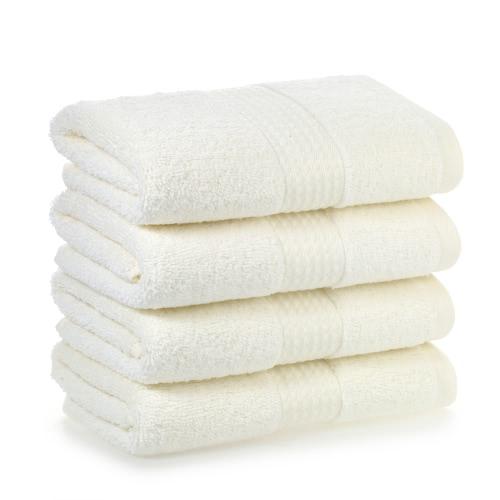 4pcs / set Многоцелевой хлопок Мягкий быстрый абсорбент Стиральный полотенце Очистка Протирая ткань Мочалки Ручные полотенца для дома Гостиничная кухня Ванная комната Туалет - Белый