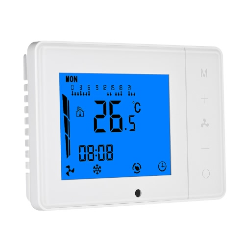 110~230V Air Conditioner 2-pipe 4-pipe Thermostat with LCD Display Good Quality Touch Screen Programmable Room Temperature Controller Home Improvement Product