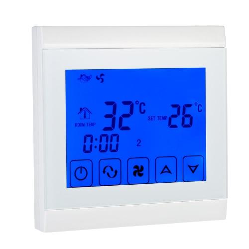 110-130V Кондиционер 2-трубная термостат с ЖК-дисплеем Хорошее качество Сенсорный экран Программируемый контроллер комнатной температуре Home Improvement продукта