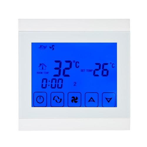 220-230 Кондиционер 2-трубная термостат с ЖК-дисплеем Хорошее качество Сенсорный экран Программируемый контроллер комнатной температуре Home Improvement продукта