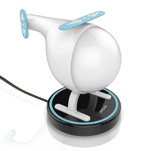 Helicóptero USB recargable para bebés LED Night Light Vibration Sensor Cambiable color Nightlight lámpara con base de carga USB