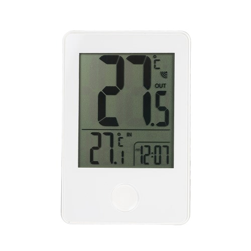 Digital Wireless Thermometer Indoor&Outdoor Temperature Measurement °C/°F Max/Min Value 12H/24H Time Display