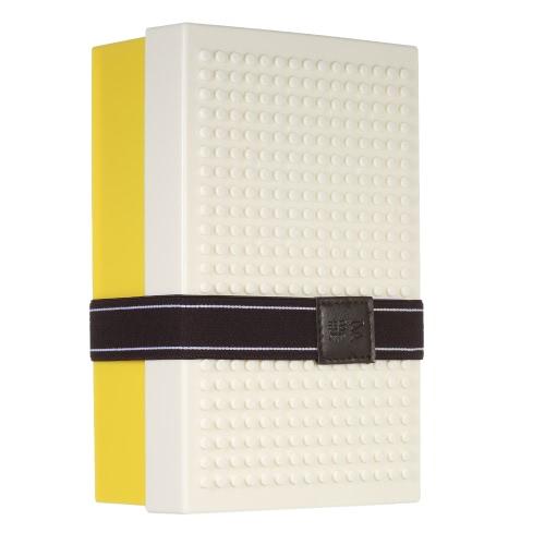 Забавный ящик для ланча Стильный портативный ящик для ланча Хорошее качество Ящик для пикника DIY Building Block Контейнеры для пищевых продуктов со складной вилкой, встроенной в кирпичные ланч-боксы