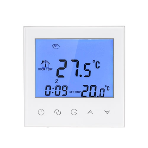 Electric Heating Thermostat with Touchscreen Smart WIFI Programmable Temperature Controller with LCD Display 16A 200~240V