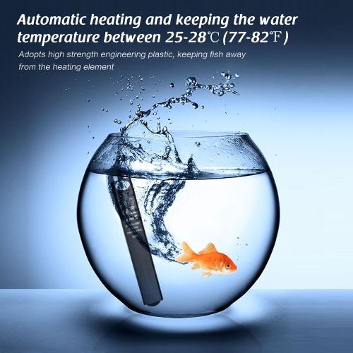 Mini Submersible Aquarium Heater Fish Tank Water Heating Rod Thermostat 15W