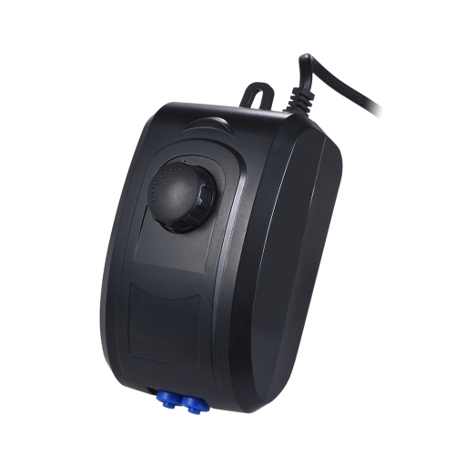 Pompe à air réglable ultra-silencieuse Airpump 4W 3.5L / min double sorties d'air de réservoir d'aquarium