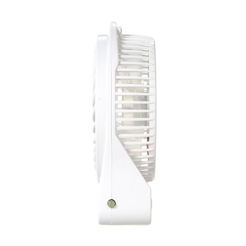 Portátil recargable LED Ventilador de luz Mini Escritorio USB de carga Refrigerador de aire 3 Modo de regulación de velocidad LED Función de iluminación Enfriamiento (Negro)