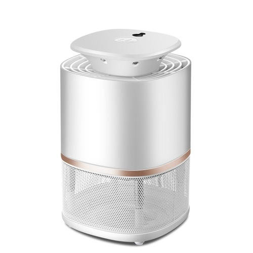 USB Smart Light-Operated Mosquito Killer Lamp Quiet Nonradiative Photocatalyst Bug Insect Repellent Light Electronic Pest Control UV Light Killing Lamps Black