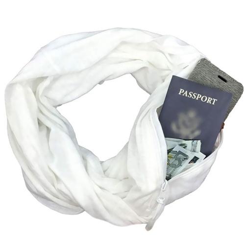Cremallera suave bolsillo bolsillo bufanda