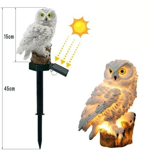 Солнечный свет совы с панелью солнечных батарей IP65 Водостойкость для сада Патио Двор Двор Путь