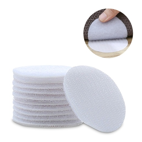 5PCS Hook and Loop Tape Double Sided Sticky Back Tape Self Adhesive Interlocking Mounting Tape Rug Mat Carpet Gripper Pads for Home Office