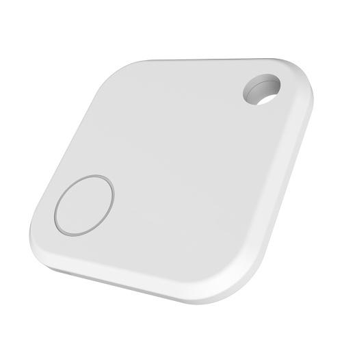 Key Finder Smart Tracker BT Key Finder Locator Anti-Perdu téléphone Finder avec App pour les téléphones Porte-monnaie Sac Porte-clés Blanc