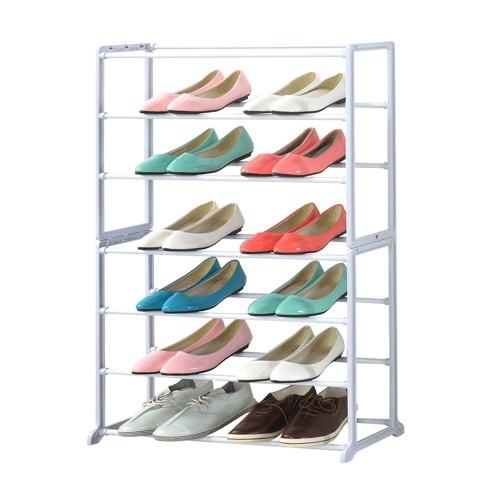 ORGANIZADOR PARA EL HOGAR Estante para zapatos de metal de 7 niveles 7 estantes Almacenamiento y organización para ahorrar espacio Organizador de almacenamiento de zapatos