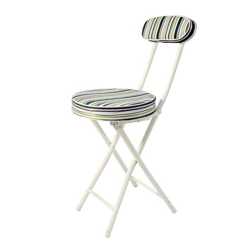 ホームオーガナイザーホーム折りたたみ椅子炭素鋼ヘビーデューティ折りたたみパッド付きラウンドスツール背もたれ生地カバーシートクッション