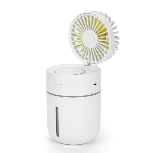 Rechargeable Mini Humidifier with Fan Portable USB Humidification Atomizer