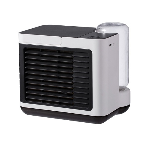 Desktop Air Cooler Air Conditioner Fan with LED Light Small Personal USB 3 Speeds Desk Fan