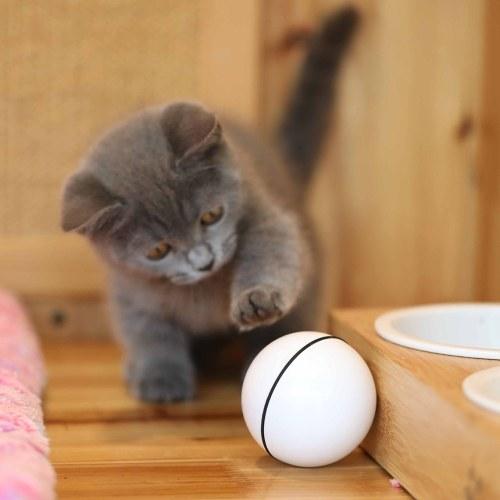 Boule interactive intelligente de jouet de chat, jouet rechargeable automatique de lumière de chat de boule de roulement USB