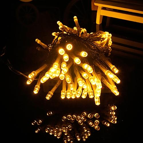 12M Solar LED Light String 100 LEDs Fairy Romantic Holiday Christmas Festival Decorations Warm White
