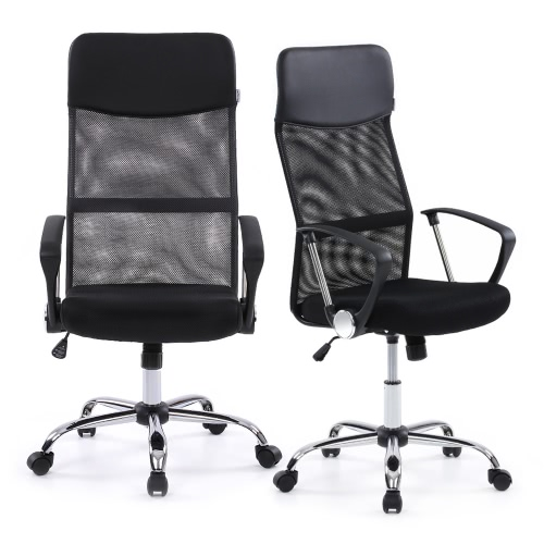iKayaa Ergonomic Mesh Adjustable Office Executive Chair Stool High-back Swivel Computer Task Chair Office Furniture with SGS Intertek Testing Report