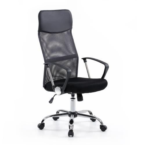 iKayaa ergonomica Mesh regolabile Executive Office Chair sgabello alto-back girevole Computer Task sedia Mobile da ufficio