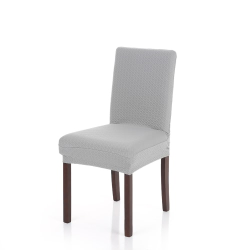 Thick Knit Stretch Removable Washable Dining Chair Cover Polyester Spandex Seats Slipcover for Wedding Party Hotel Dining Room Ceremony
