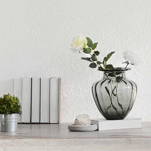 CASAMOTION moderna soffiato grande vaso a forma di vetro vaso a costine Home Design arte decorazione decorazioni floreali