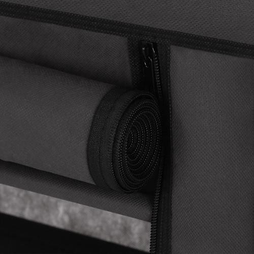 Секундомер iKayaa Современный портативный складной шкаф для хранения шкафа Организатор свертывания одежды Шкаф для одежды Шкаф для одежды Вешалка для стойки W / 13 Полки для хранения 1 Висячий стержень фото