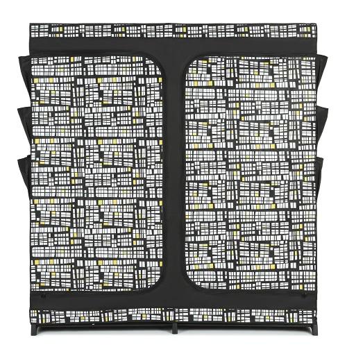 iKayaa Classic Double Zipped Up Fabric Closet Large Clothes Organizer