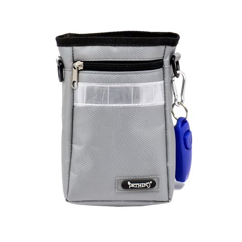 Excellent Oxford Fabric Pet Dog Treat Pouch Water-proof Dog Training Bag to Carry Toys/Kibble/Keys with 1 Roll of Waste Bag + Adjustable Waist Belt