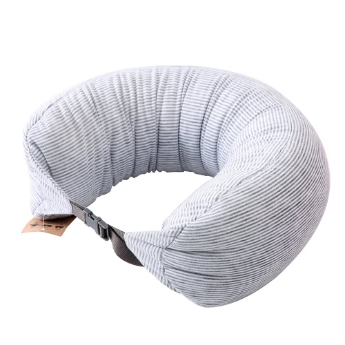 U Shaped Foam Particles Travel Neck Pillow Health Care Headrest Home Office Flight Car Nap Side Sleeper