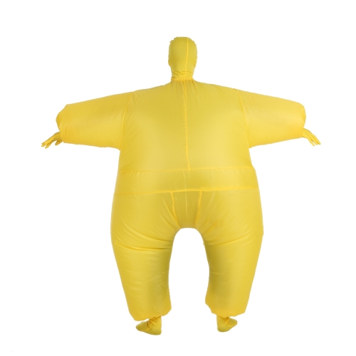 Drôle Taille adulte gonflable Costume Full Body Costume Air Fan Exploité Blow Up Déguisements Sport Halloween Party Fat gonflable Jumpsuit Costume