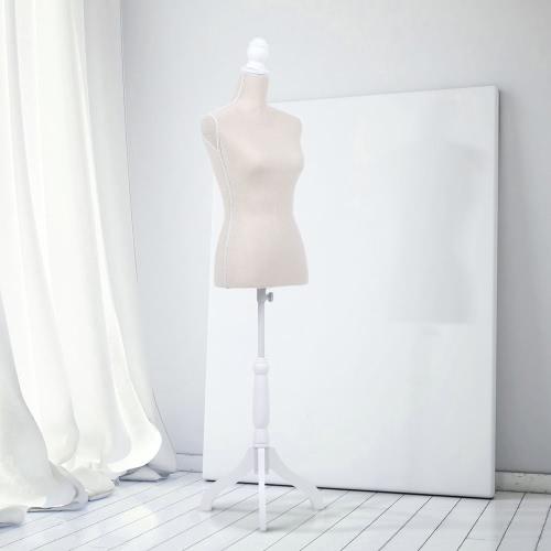 "IKayaa Mannequin Femminile Torso Dress Form con legno Treppiede Stand Pinnable Dimensioni 34 ""26"" 35 """