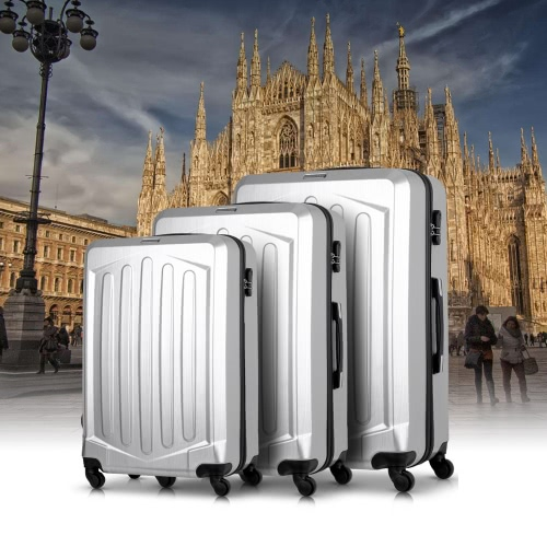 Ensemble de valises TOMSHOO 3PCS Hard Shell Ensemble de valises 20
