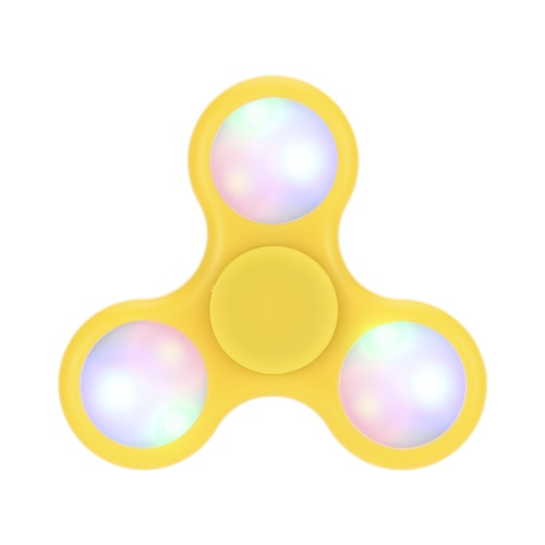 New LED Lighting Light Glowing Luminous Hand Finger Tri Spinner Fidget Toy Stress Reducer Anxiety Relieves Focus Helper EDC Pocket Desktoy Gift for ADHD Children Adults