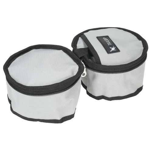 TAILUP складной Оксфорд ткани Pet собак продовольствия воды Bowl Bag двойной Bowl фидер контейнера для поездок на открытом воздухе